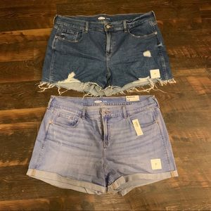 2 brand new jean shorts!